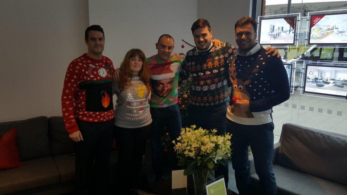 nine elms estate agents christmas jumper day