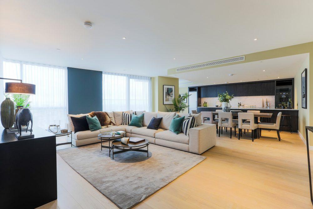 Charrington Penthouse, living room