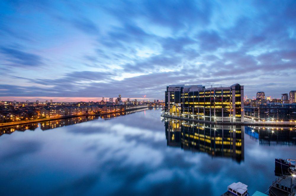 London Skyline, city harbour