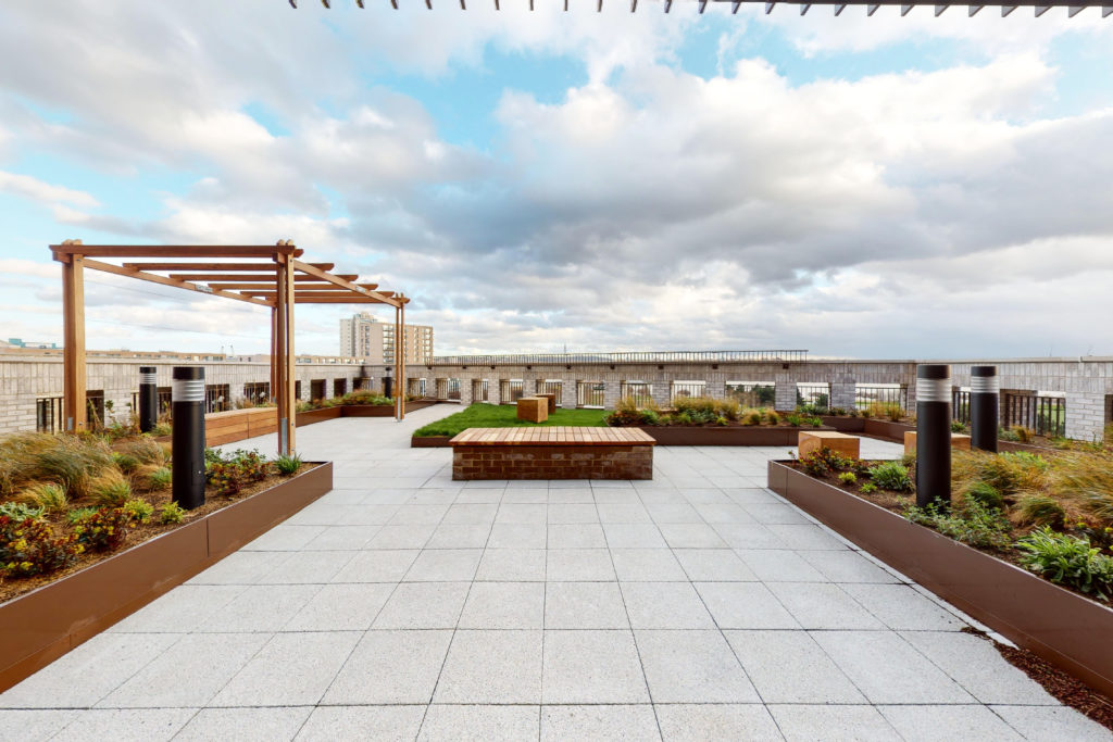 Millet Place outdoor space