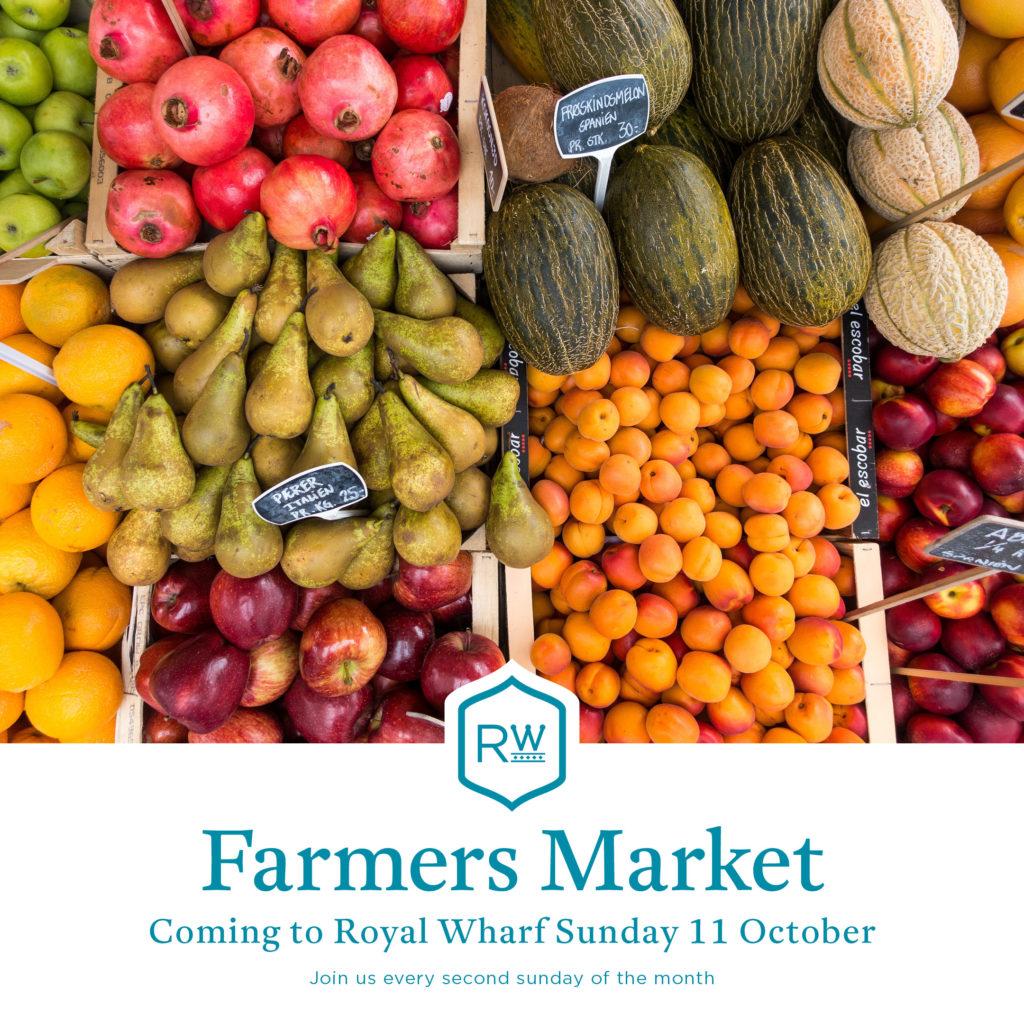 Royal Wharf farmers market