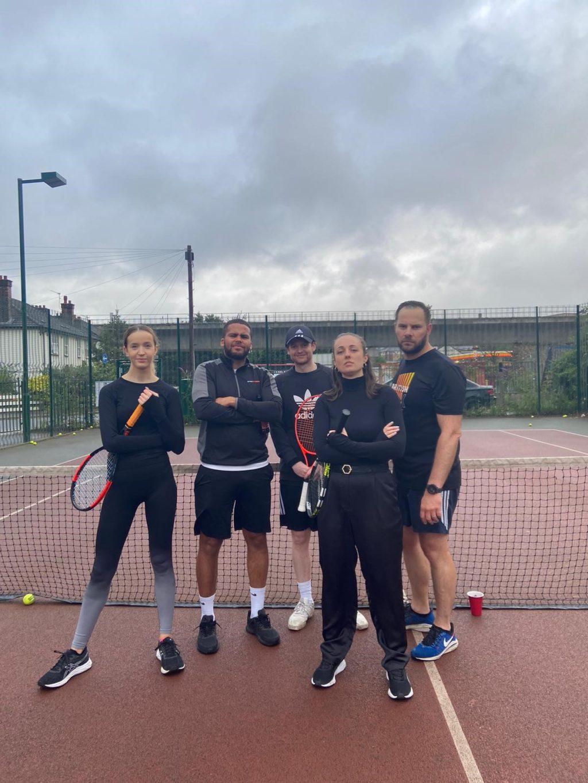 winning tennis team